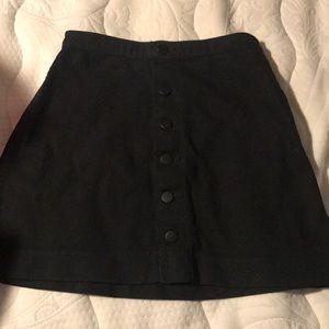 American Apparel black denim skirt